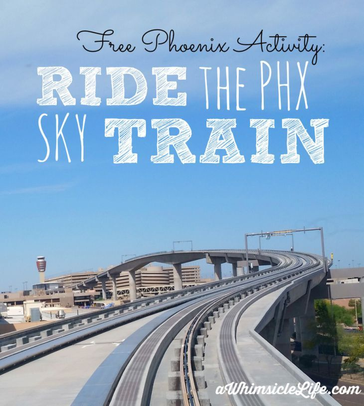 Riding the Sky Train at Phoenix Sky Harbor is a free and fun activity for kids of all ages.  This post tells you where to park, how to catch the train and what to do once you reach the airport.