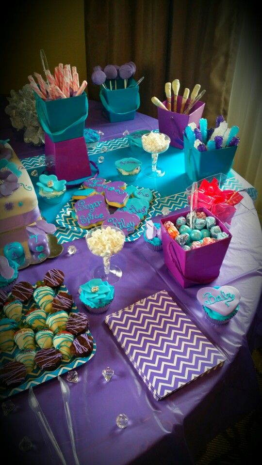 Purple and Turquoise Baby Shower- my baby shower :)