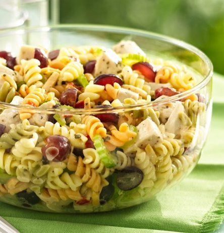 Chicken Pasta Salad with Grapes and Poppy Seed Dressing - Pull off a ...