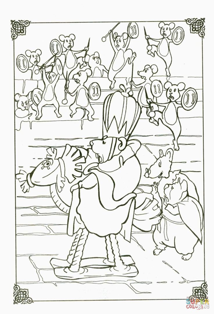The Mouse King coloring page