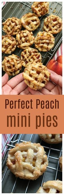Easy Perfect Peach Mini Glazed Pies | Sweet Jenny Belle - perfect for patio parties or 4th of July menu!