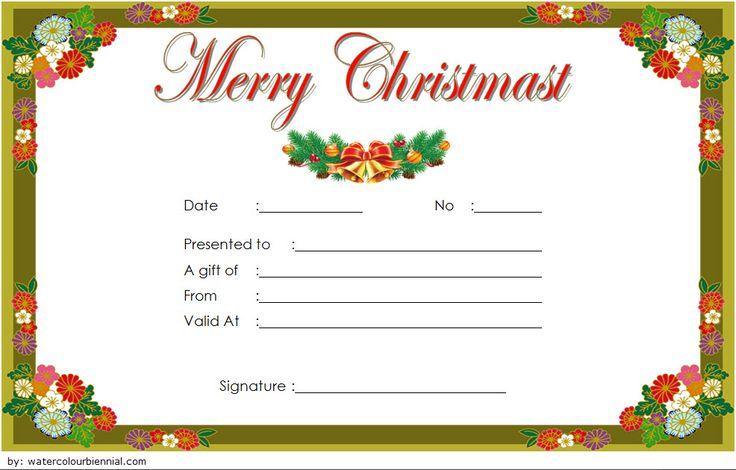 Christmas massage gift certificate template free massage
