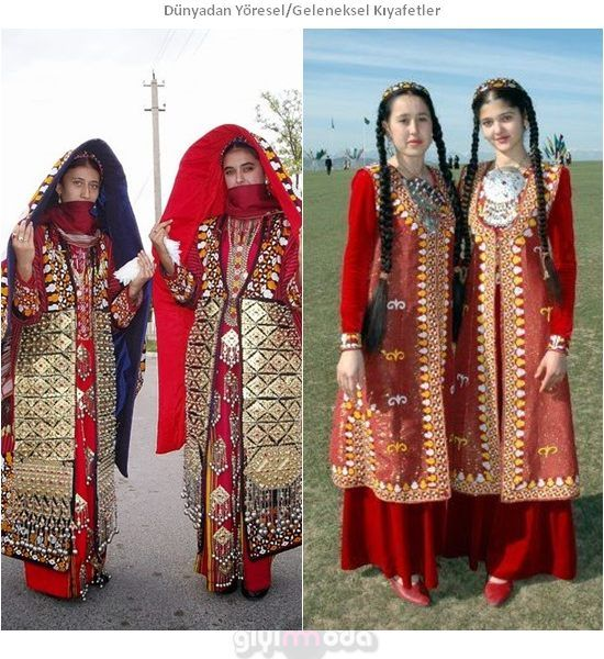 Türkmenistan Geleneksel Kıyafetleri