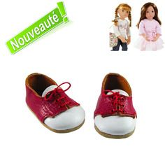 Poupée type american girl-chaussures de luxe-rose tendre