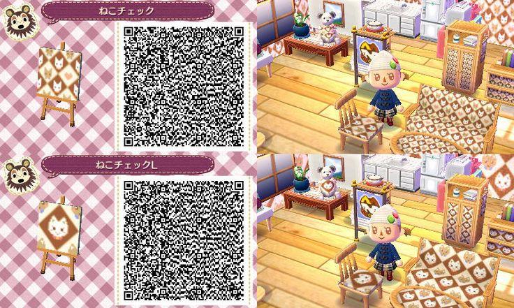 Animal Crossing New Leaf QR codes cat pattern Animal