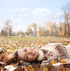 Autumn joy. stock photo