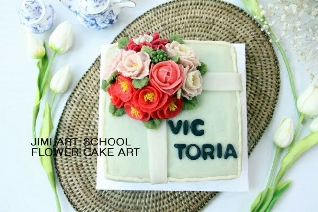 #rice cake#pink#cake#앙금플라워#flower cake#flower#rose#decoration#love#korea cake#korea food#지미아트스쿨#앙금플라워떡케이크#떡공예#수강생작품