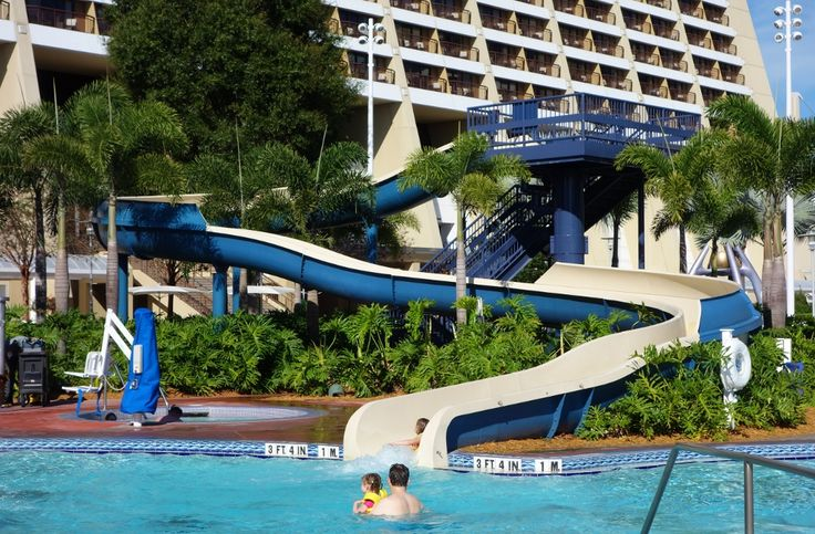 Pool Slide at Disney's Contemporary Resort from yourfirstvisit.net