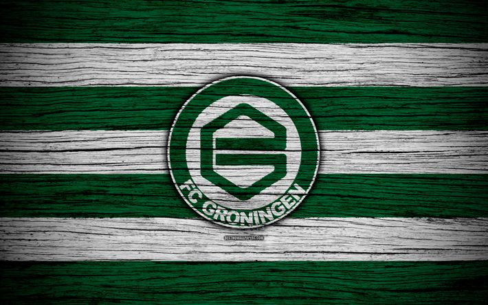 Download wallpapers Groningen FC, 4k, Eredivisie, soccer, Holland, football club, Groningen, wooden texture, FC Groningen