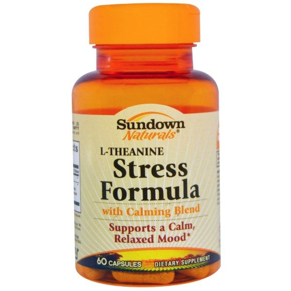 Sundown Naturals, Stress Formula, L-Theanine, 60 Capsules  #stress #formula #support #balance #management #iherb #thingstobuy #shopping #relief