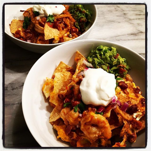Love will make you make banging shrimp nachos for you and your honey at 10pm so you can binge Narcos until the sun comes up. I should have shot them before serving but whatevs. Everything but the chips and the crema are from scratch . #netflixandchill #nachos #NachosAndNarcos #narcos #fresh #food #fromscratch #guacamole #salsa #shrimpnachos  #cheesygoodness #snacks #EEEEEATS #newforkcity #nyc #yli
