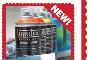 New water based spray paint at Michaels
