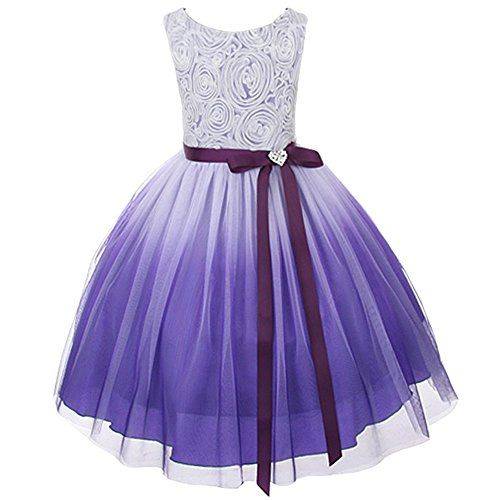 Purple Ombre Rosette Special Occasion Flower S Dress Christmas Wedding 2 14 Bny Corner Http