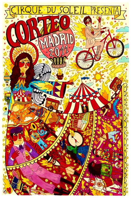 Ricardo Cavolo: Circus Circus, Ricardocavolo, Illustration, Graphics Design, Ricardo Cavolo, Corteo Prints, Cirque Du Soleil, Dusoleil, Cavolo Madrid