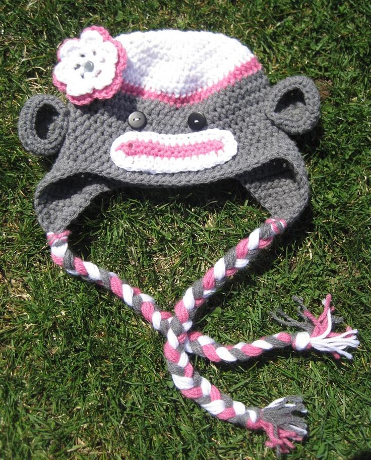 Handmade Crochet Sock Monkey Hat - perfect for infants, kids and adults!      http://www.etsy.com/shop/BumbleBeedsBowtique
