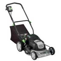 This electric mower doesn't release gas fumes - nor does it have a lengthy power cord! It is sturdy and well constructed with large wheels that help with using it on terrain. The rechargeable battery can not be plugged in for more than 24 hours, which means you have to pay close attention. It also needs to be charged every month during the off-season, another downside. Still, its a great mower priced at $295