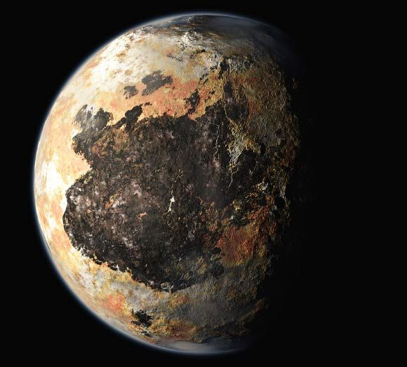 New Horizons Spacecraft Sees Possible Polar Cap on Pluto 4/30/15 by Sci-News.com An artist's concept of Pluto. Image credit: NASA / Johns Hopkins University Applied Physics Laboratory / Southwest Research Institute.