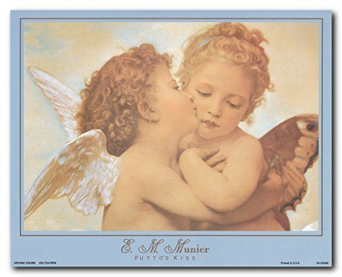 Liven up your kid's bedroom with this beautiful William-Adolphe Bouguereau the first kiss picture art print poster. This lovely poster is sure to bring a pretty atmosphere into your home and grab you many compliments from your guests who visit you home. It goes well with your kid's bedroom which will surely bring smile on their face.
