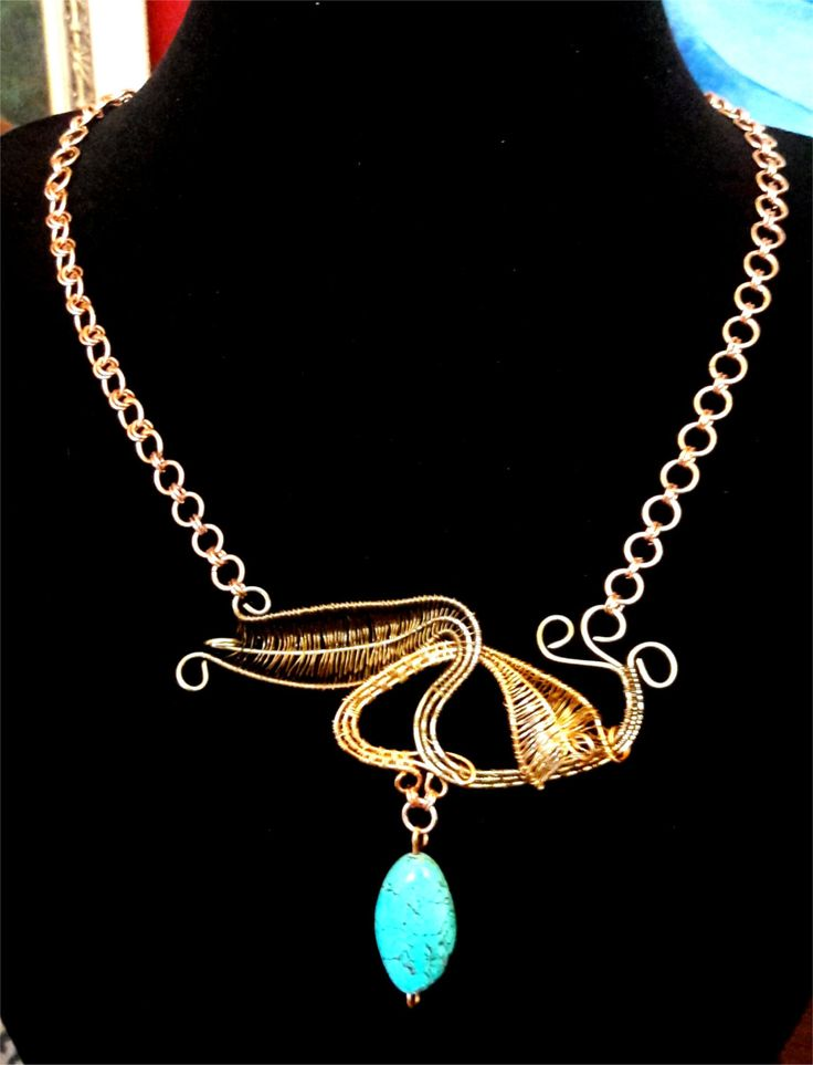 Wire Weave Necklace by ExceptionalDesigns13 on Etsy