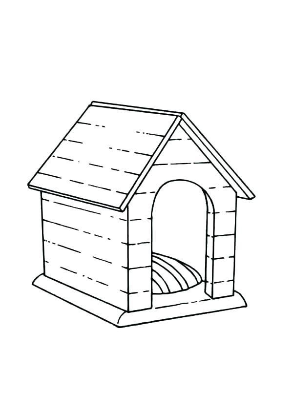 Coloring Pages Of Dog Houses Dog House Coloring Page Dog Kennel