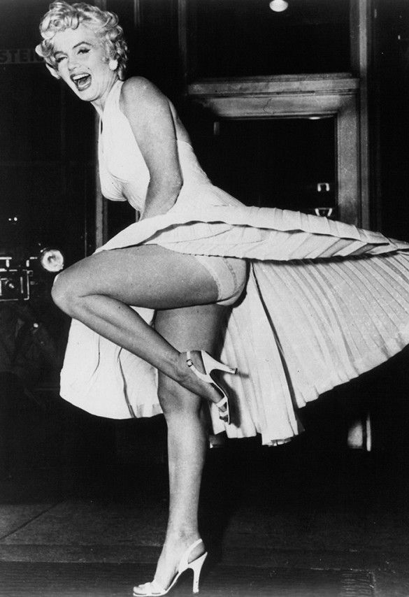 Icon Marilyn Monroe on set for the Seven Year Itch