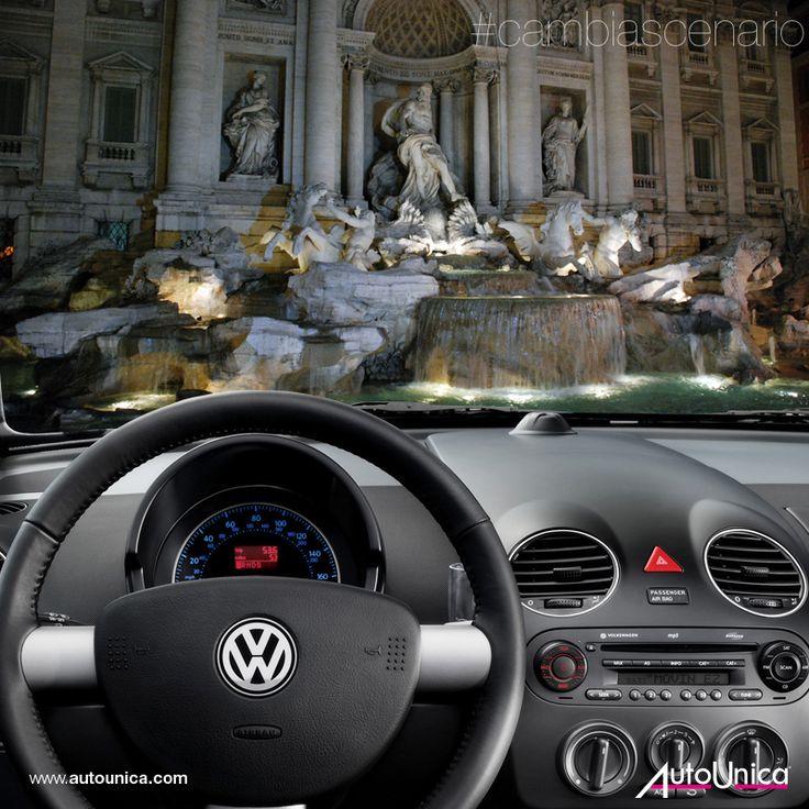 Cambia Scenario. Fontana di Trevi, un capolavoro architettonico unico e inimitabile. Roma Caput Mundi, città unica... #autounica