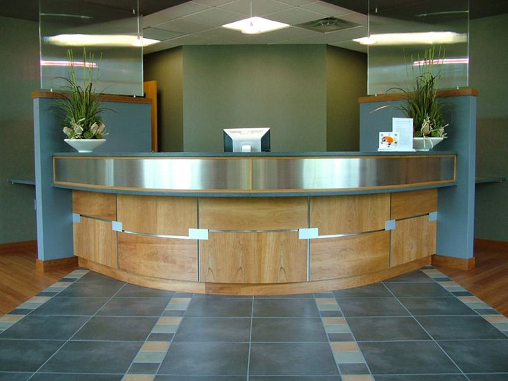 Hospital Reception Check Out With Panels For Patient