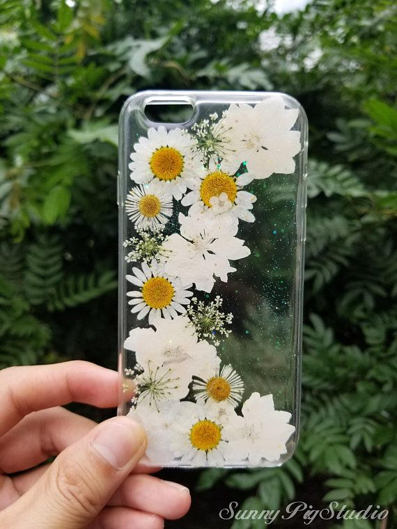 Handmade real pressed dried flower case, iPhone x 6 6s 7 8 Plus se Xr Xs Max case, Samsung galaxy S7 edge S8+ S9+ S10+ S10e note8 note9 case