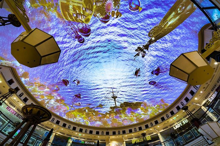 Das Schloss shopping centre has received an AV upgrade, with the world's largest projection ceiling immersing shoppers in the heart of Berlin
