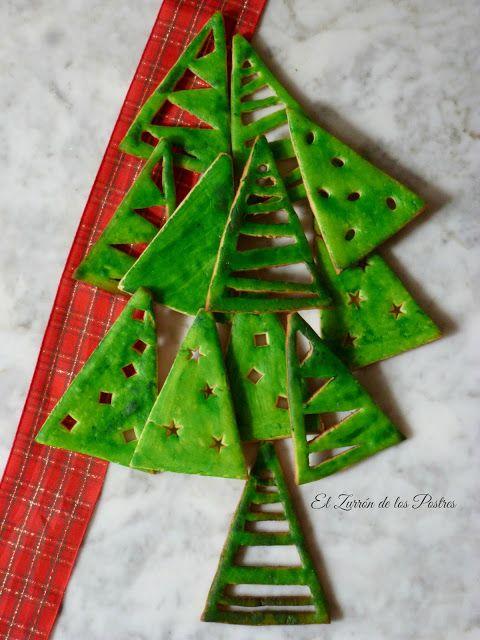 El Zurrón de los Postres: Galletas Árboles para Navidad'16