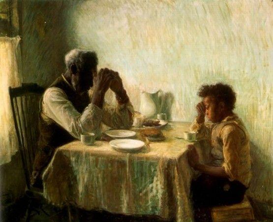 """Henry Tanner """"El agradecimiento de los humildes"""" 1894"""