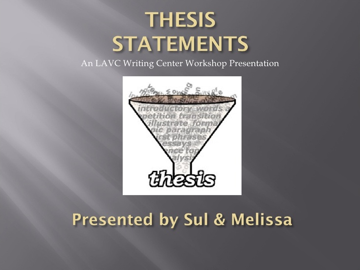 Writing workshop thesis statement