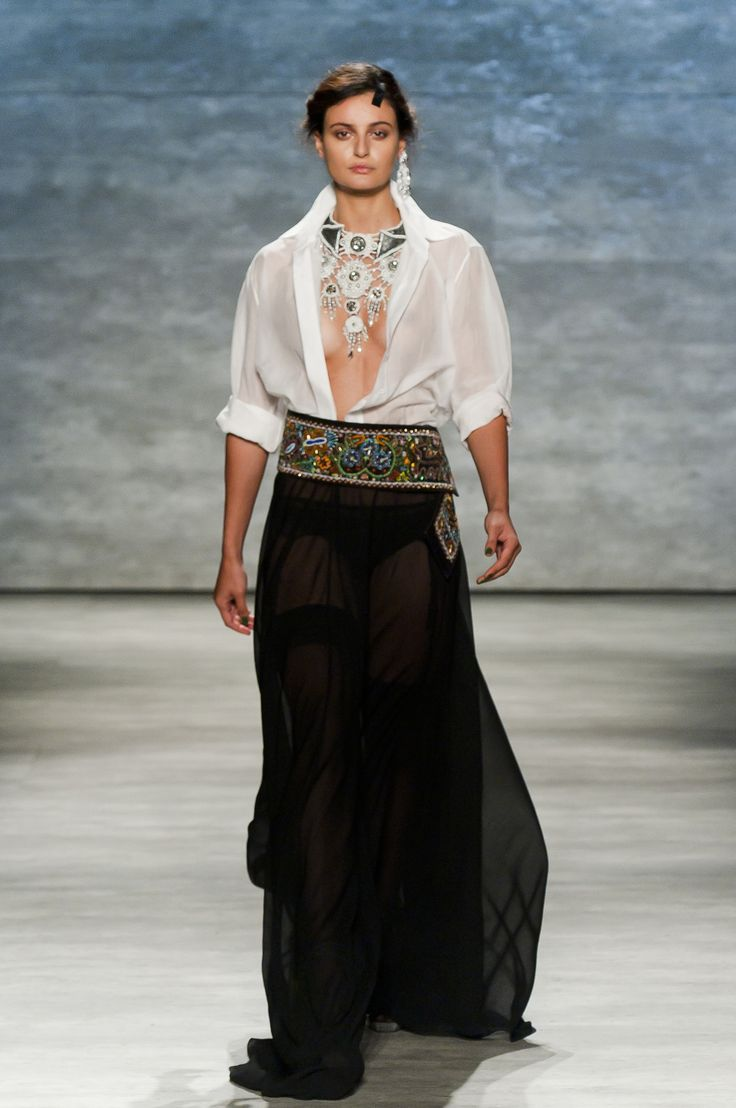 The power from within reflected in the clothes you wear.  Dorin Negrau - Duality SS 15 NY Fashion Week  via www.fashionandbeauty.ro