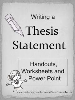 thesis statement teaching How do i create a thesis statement there are many approacheshere are some methods: • answer the question or respond to the writing task directly: one way to.