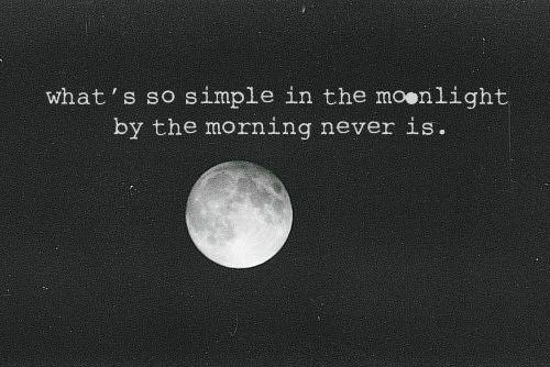 : Bright Eye, Moon, Dark Wont, Quote, True Words, Parties People, Night Sky, The Dark, Heavy Heart