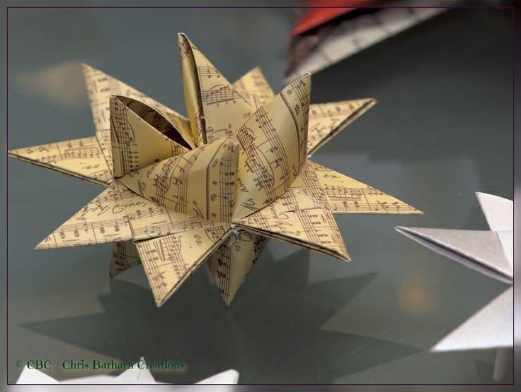 Fröbelstern - mit Notenpapierstreifen