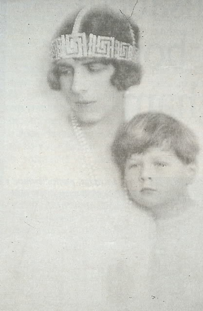 King Michael of Romania with his mother, Princess Helen (nee Princess of Greece and Denmark).