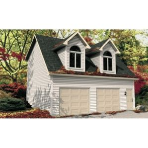 Garage packages garage and loft on pinterest Log garage kits with loft
