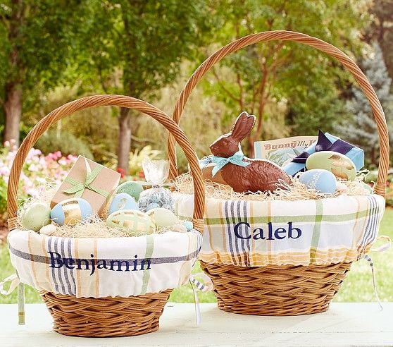 292 best easter baskets images on pinterest easter baskets orangebluegreen plaid easter basket liners pottery barn kids negle Choice Image