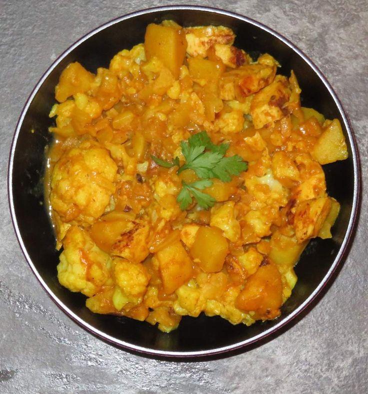 Cocotte de chou fleur, pomme de terre et poulet au curry   Recettes de cuisine, Chou fleur ...