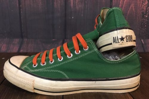 fc5bc8c22912 Converse All Star Vintage Made in USA 80 s Men s Green Size 11.5 GUC Retro