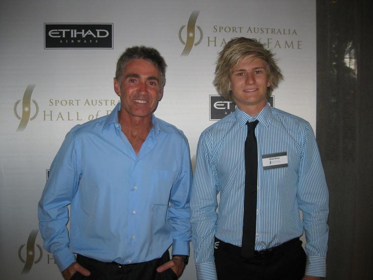 5 Time World Champion Mick Doohan Mentoring Brad Shaw SAHOF 2012/13 Scholarship Holder.