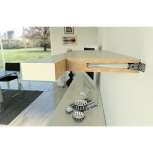 Floating shelf adjustable mounting hardware