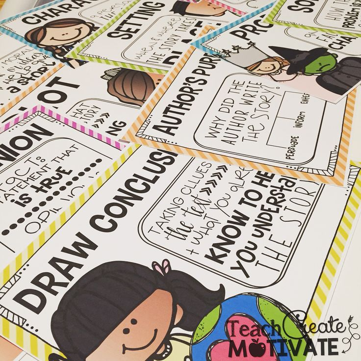 Comprehension posters-bright and simple