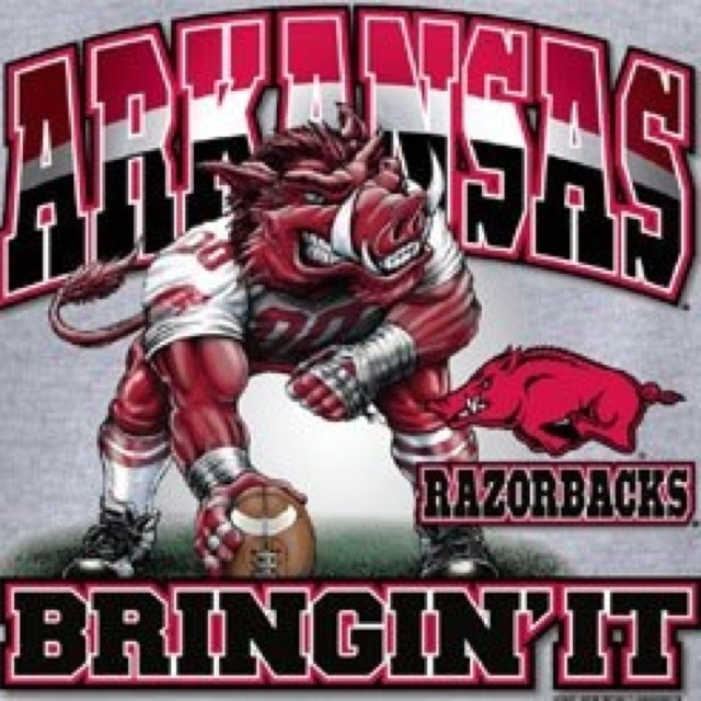 Arkansas Razorbacks Bringin' ItPigs Soooie, Razorbacks Stuff, Pigs Sooie, Arkansas Razorbacks, Things Razorbacks, Razorbacks National, Woo Pigs, Hog Wild, Wooo Pigs
