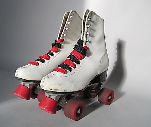 Red High Heel Roller Derby Skate