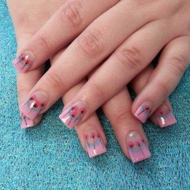 Nail Art Tutorial: Pink Dandelions