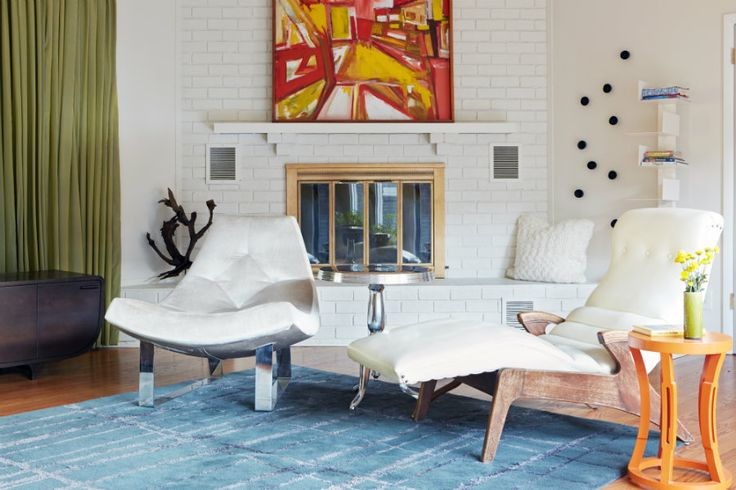 Solid blue rug with texture in this Oak Hill renovation. Interior design by Beth Haley Interior Design, Nashville