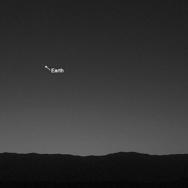 Earth View From Mars - Pics about space