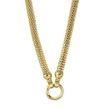 NECKLACE KAGI GOLD MEDUSA 18CT YELLOW GOLD PLATED STAINLESS STEEL 49CM - Jons Family Jewellers